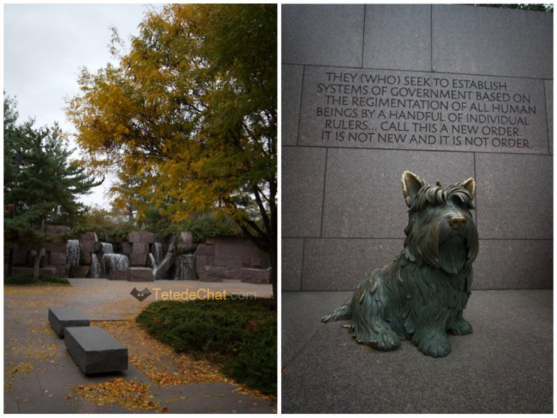 Le mémorial franklin delano roosevelt (et son chien…)