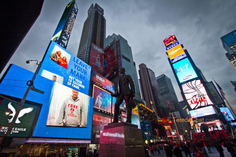 New york sous sandy road trip usa voyage for Photo ecran times square