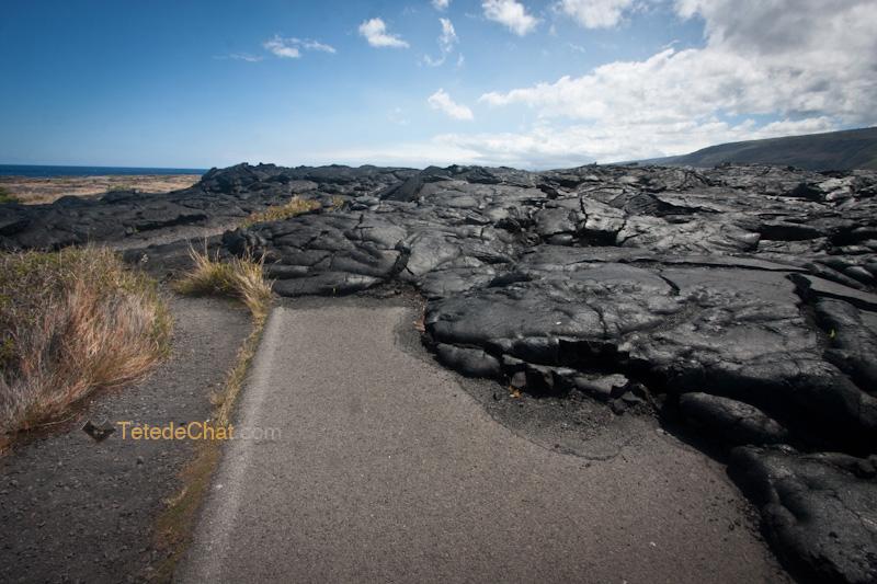 route_envahi_ lave_seche_grande_ile_hawai
