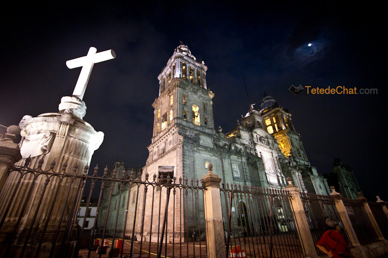 Cathedrale_Metropolitaine_Mexico_nuit