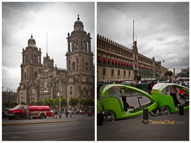 Cathedrale_Metropolitaine_rickshaw_Mexico