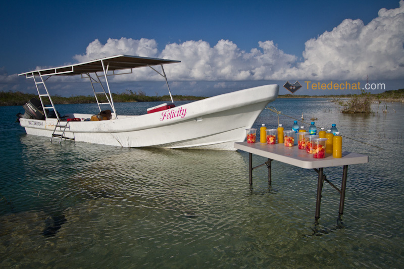 bateau_fruit_jus_table_lagune_bacalar