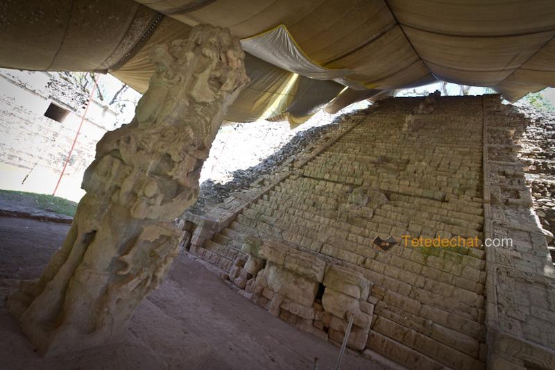 pyramide_couverte_ruines_copan_statue