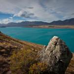 Mont Cook, glacier Tasman et lac Tekapo